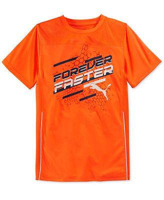 Puma Boys 39 Forever Faster T Shirt Shirts Tees Kids