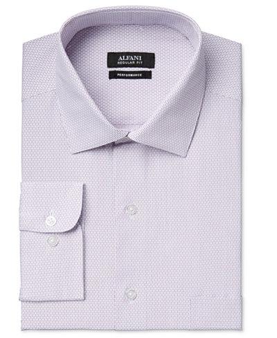 Alfani men 39 s big and tall performance purple dobby striped for Big and tall purple dress shirts