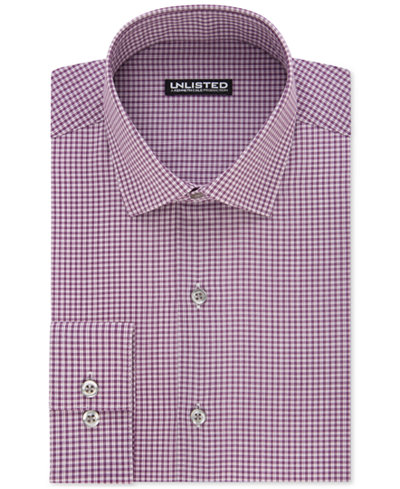Unlisted By Kenneth Cole Men 39 S Slim Fit Checked Dress