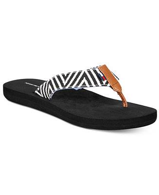 tommy hilfiger cawthra flip flop sandals sandals shoes macy 39 s. Black Bedroom Furniture Sets. Home Design Ideas