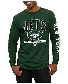 Youth New York Jets Green/White Goal Line Long Sleeve T-Shirt & Short Sleeve T-Shirt Combo