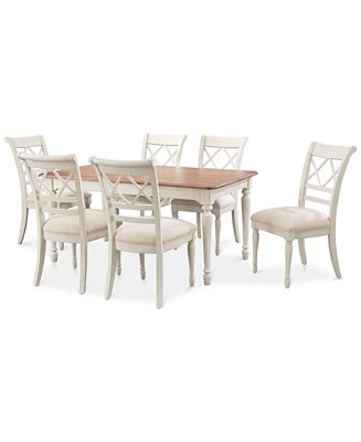 Cape may dining set 7 pc table 6 side chairs only for Macys dining table