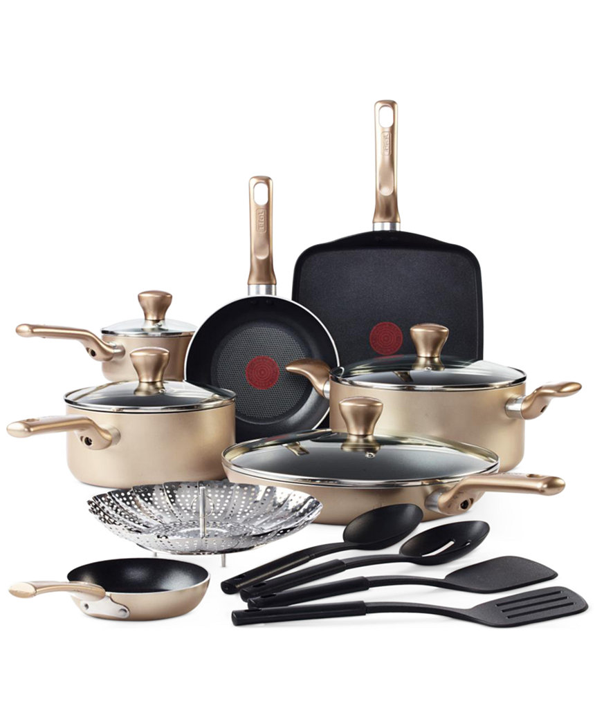 T fal culinaire 16 piece cookware set 48 after rebate for Culinaire