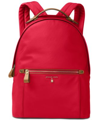 MICHAEL KORS Michael  Kelsey Large Backpack in Bright Red