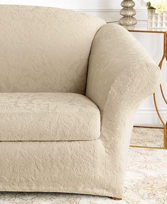 Sure Fit Stretch Sofa Jacquard Damask 2 Piece Sofa