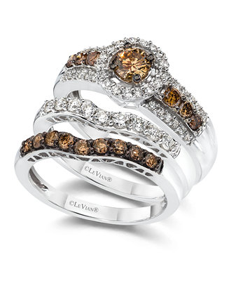 Le Vian Diamond Stackable Rings In 14k White Gold Rings