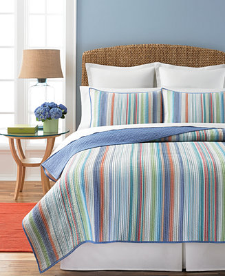 closeout martha stewart collection chatham stripe quilts quilts bedspreads bed bath. Black Bedroom Furniture Sets. Home Design Ideas