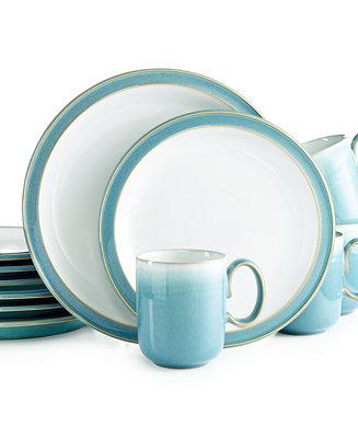 Denby Azure 12 Pc Set Service For 4 Dinnerware Dining Entertaining Macy 39 S