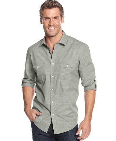 Alfani Men S Big And Tall Long Sleeve Warren Shirt