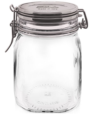 Bormioli Rocco Metallic Fido Storage Jar Serveware