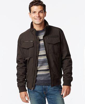 Tommy Hilfiger Performance Bomber Jacket - Coats u0026 Jackets - Men - Macyu0026#39;s