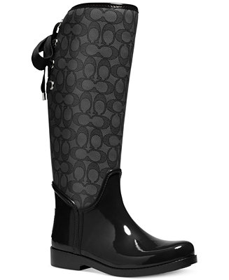 Coach Tristee Rainboots Boots Shoes Macy S
