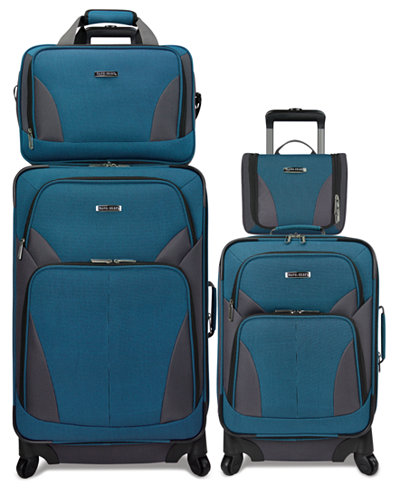 Travel Select Allentown 4-Piece Spinner Luggage Set (Multiple Colors) + $10 Macys Money