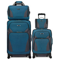 Travel Select Allentown 4 Piece Spinner Luggage Set (Grey or Turquoise)