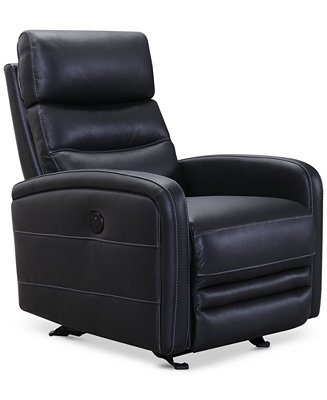 Jensen Leather Power Recliner Furniture Macy S