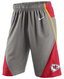 Mens Kansas City Chiefs Nike Red Fly Warp Performance Shorts