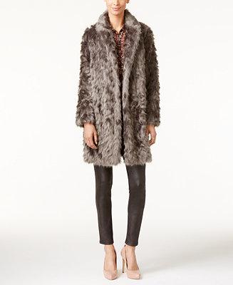 Vera Wang Coat Faux Fur Coat Coats Women Macy S
