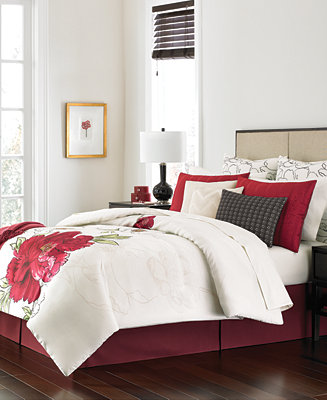 Martha Stewart Collection Plum Blossom 14 Pc Queen Comforter Set Only At Ma