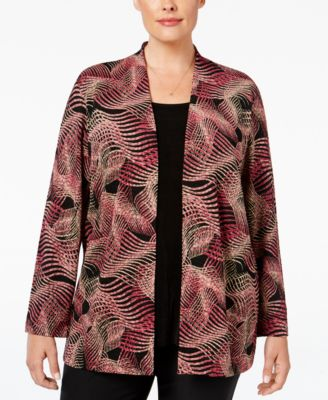 JM Collection Plus Size Layered-Look Blouse, Only at Macy's