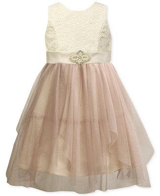Jayne Copeland Girls Asymmetrical Princess Dress