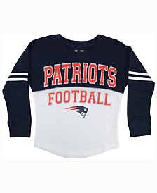 Girls Youth New England Patriots 5th & Ocean by New Era Pink Glitter Heart Tri-Blend Tank Top