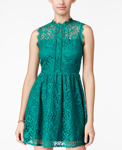 Speechless Juniors Lace Fit Amp Flare Dress Juniors