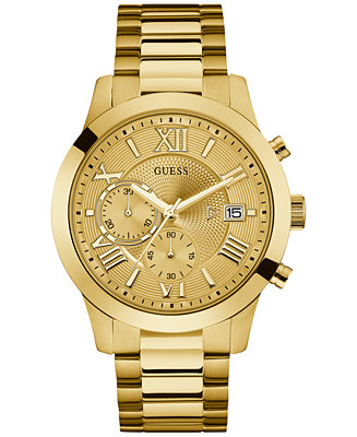 Guess Men S Chronograph Atlas Gold Tone Stainless Steel