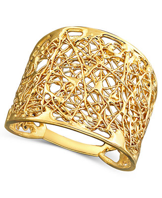 14k Gold Wire Filigree Ring Rings Jewelry Amp Watches