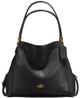 Edie Shoulder Bag 31 in Polished Pebble Leather