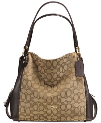 COACH Signature Edie Shoulder Bag 31 in Signature Jacquard