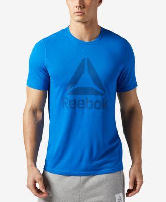 REEBOK Men'S Supremium Speedwick Graphic-Print T-Shirt in Awesome Blue