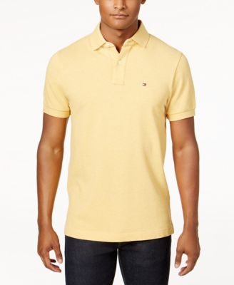 TOMMY HILFIGER Men'S Custom-Fit Ivy Polo in Golden Rod Heather