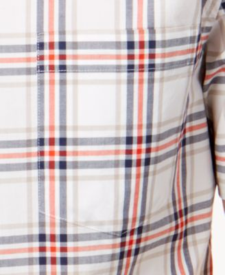 TOMMY HILFIGER Men'S Classic-Fit Brinson Plaid Shirt in Neutrals