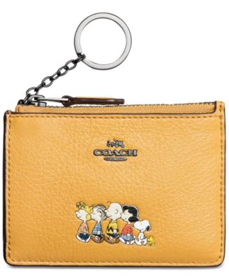 Coach Boxed Small Wallet With Snoopy Coach