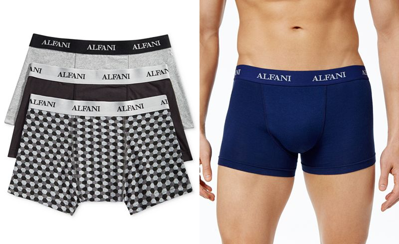 3-Pack Alfani Mens Knit Tagless Slim Fit Trunks