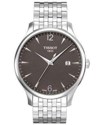 Tissot Watch Mens Swiss Tradition Stainless Steel Bracelet T0636101106700