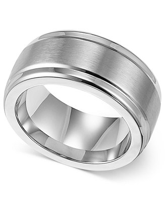 Triton Men 39 S Stainless Steel Ring 9mm Wedding Band Rings Jewelry Am