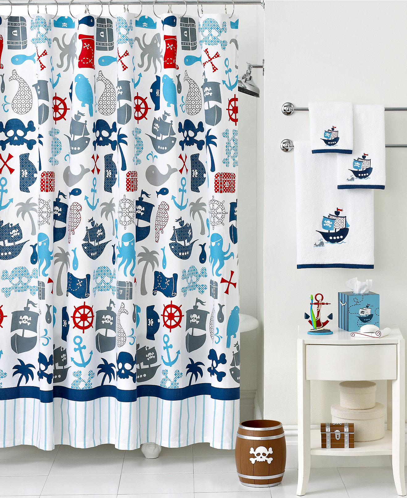 Sears Bathroom Accessories Nautical Shower Curtains And Bath Accessories
