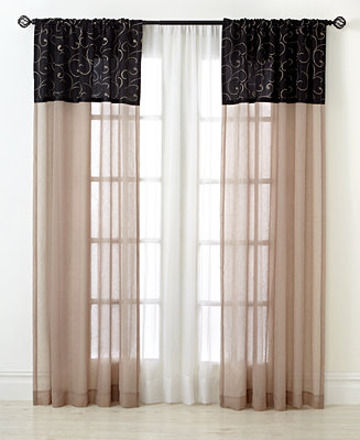 Closeout chf sheer westgate window treatment collection window treatments for the home macy 39 s - Clever window curtain ideas matched with interior atmosphere and concept ...