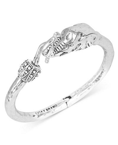 Lucky brand bracelet silver tone elephant cuff bracelet for Macy s lucky brand jewelry