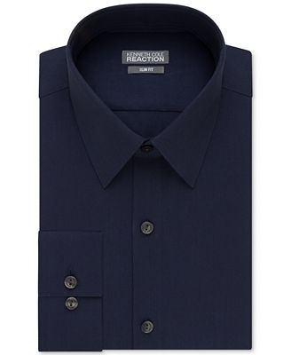 Kenneth cole reaction extra slim fit solid dress shirt for Extra slim dress shirt