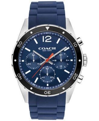 COACH MEN'S CHRONOGRAPH SULLIVAN SPORT BLUE SILICONE STRAP WATCH 44MM 14602042, MACY'S EXCLUSIVE
