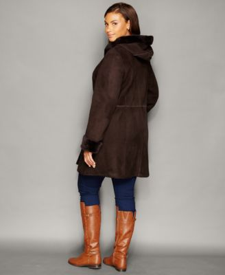 The Fur Vault Plus Size Shearling Lamb..