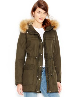 Levis® Faux-Fur-Trim Hooded Parka Jacket