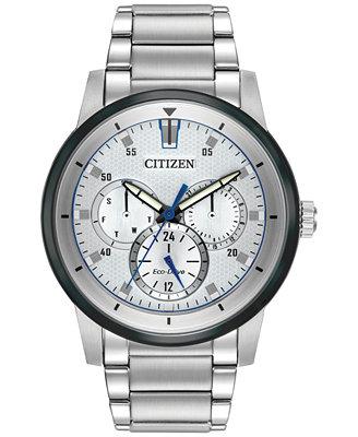 citizen s eco drive sport stainless steel bracelet
