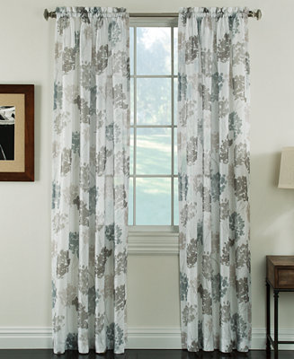 Miller Curtains Audrey 50 X 84 Sheer Print Curtain Panel Sheer Curtains Macy 39 S