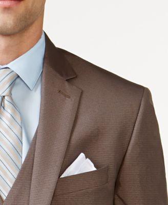 Kenneth Cole Reaction Tan Check Vested..