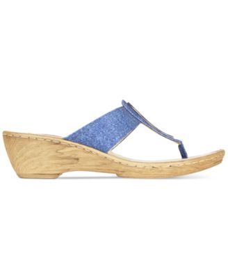 Bella Vita Sulmona T-Strap Wedge Sandals