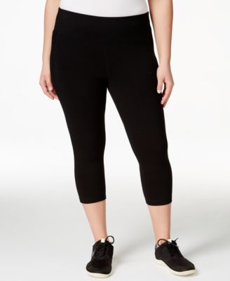 Ideology Plus Size Slimming Cropped Leggings, Only at Macy's
