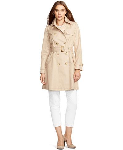 Lauren Ralph Lauren Skirted Trench Coat Coats Women